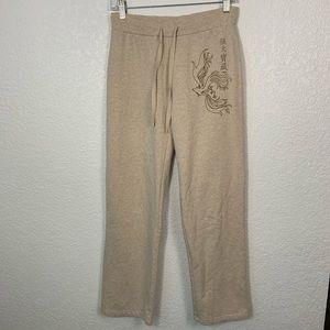 Disney Store Cream Sweatpants Small